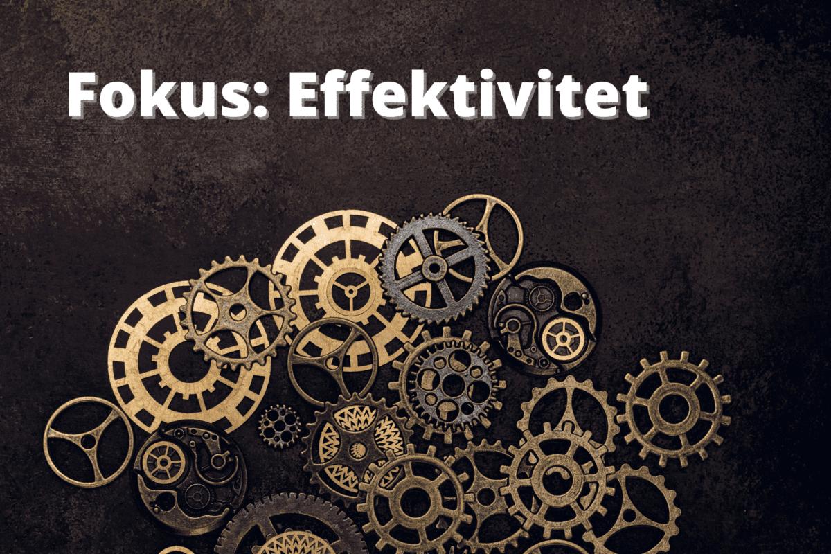 3 konkrete KPI eksempler - Effektivitet